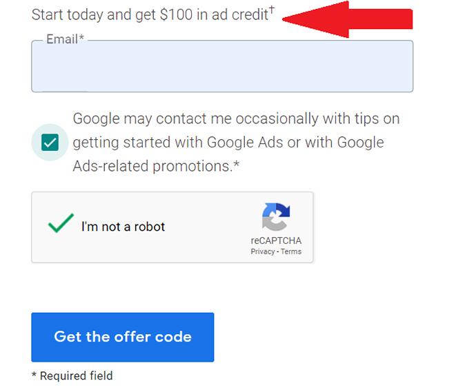 Google AdWords Voucher For Free