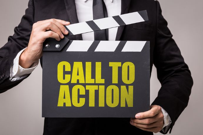 Call to action for PPC advertisement