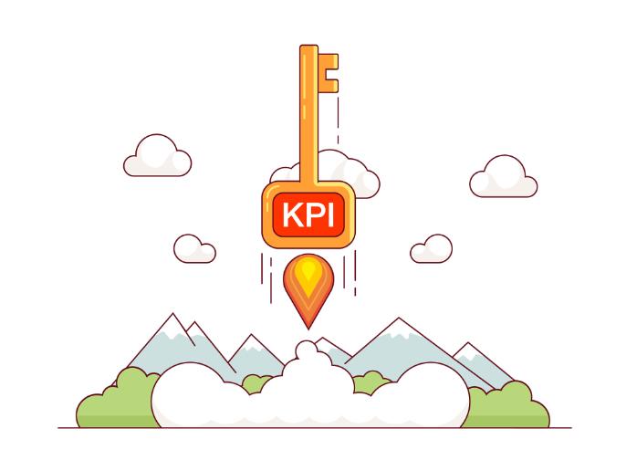 KPI growth concept